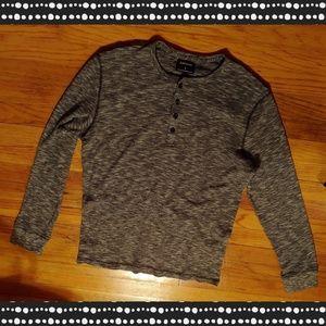 Men's Express dark grey heather thermal shirt XL